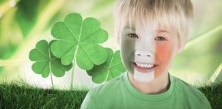 逗人喜爱的爱尔兰男孩的综合图象 免版税库存图片