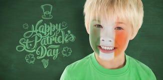 逗人喜爱的爱尔兰男孩的综合图象 免版税图库摄影