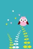 逗人喜爱的爱猫头鹰 免版税库存图片