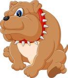 逗人喜爱的牛头犬动画片 向量例证