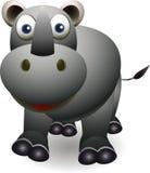 逗人喜爱的犀牛动画片 免版税库存照片