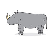 逗人喜爱的犀牛 库存图片