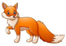 逗人喜爱的狐狸动画片 库存例证