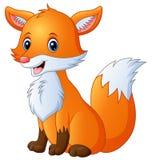 逗人喜爱的狐狸动画片 皇族释放例证