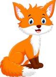 逗人喜爱的狐狸动画片的传染媒介例证 免版税库存照片