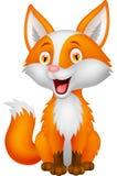 逗人喜爱的狐狸动画片 免版税图库摄影