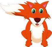 逗人喜爱的狐狸动画片 免版税库存照片
