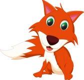 逗人喜爱的狐狸动画片 图库摄影