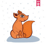 逗人喜爱的狐狸红色 免版税库存图片