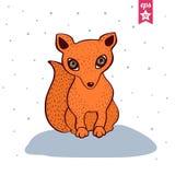逗人喜爱的狐狸红色 库存照片
