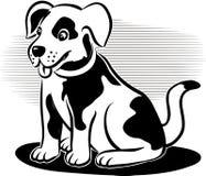 逗人喜爱的狗一点 库存图片