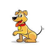 逗人喜爱的狗向量 免版税库存照片