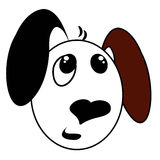 逗人喜爱的狗表面 免版税库存照片