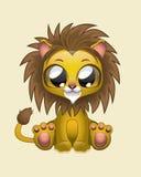逗人喜爱的狮子传染媒介例证艺术 免版税库存照片