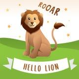 逗人喜爱的狮子动画片 向量例证