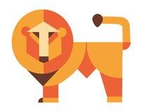 逗人喜爱的狮子动画片国王,衬衣 免版税库存照片
