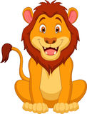 逗人喜爱的狮子动画片 免版税图库摄影