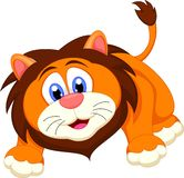 逗人喜爱的狮子动画片 库存图片