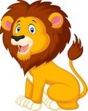 逗人喜爱的狮子动画片 免版税库存照片