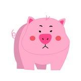 逗人喜爱的猪动画片传染媒介 库存照片