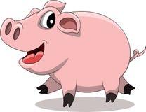 逗人喜爱的猪动画片 库存图片