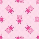 逗人喜爱的猪无缝的样式 免版税图库摄影