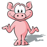 逗人喜爱的猪 免版税库存图片
