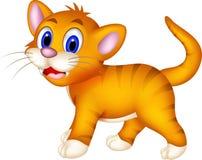 逗人喜爱的猫动画片 图库摄影