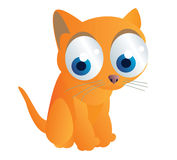逗人喜爱的猫动画片 库存照片