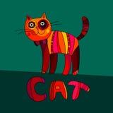 逗人喜爱的猫的传染媒介例证 传染媒介动画片猫 免版税库存图片