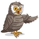 逗人喜爱的猫头鹰 向量例证