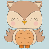 逗人喜爱的猫头鹰 免版税库存照片