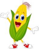 逗人喜爱的玉米漫画人物 免版税库存照片