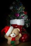 逗人喜爱的玩具圣诞节熊 免版税库存图片