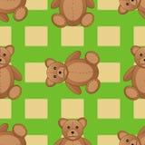 逗人喜爱的玩具熊无缝的样式传染媒介例证 免版税图库摄影