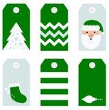 逗人喜爱的现代圣诞节节日礼物标记printables 免版税库存照片