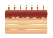 逗人喜爱的生日蛋糕 库存图片