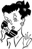 逗人喜爱的电话Gal 向量例证