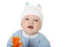 逗人喜爱的男婴 免版税库存图片
