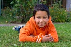 逗人喜爱的男孩吉普赛人种族 图库摄影