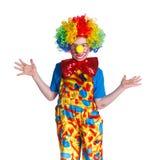 逗人喜爱的男孩小丑 免版税库存图片