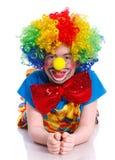 逗人喜爱的男孩小丑 库存图片