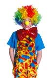 逗人喜爱的男孩小丑 图库摄影