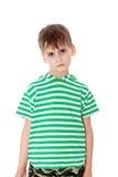 逗人喜爱的男孩愤怒 免版税库存照片