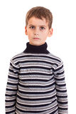 逗人喜爱的男孩愤怒 免版税图库摄影