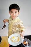 年轻逗人喜爱的男孩画象  图库摄影