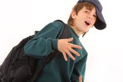 逗人喜爱的男小学生年轻人 库存图片