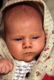 逗人喜爱的白种人婴孩 库存图片