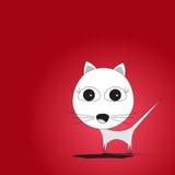 逗人喜爱的白色小猫 图库摄影