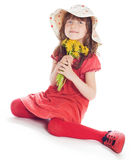 逗人喜爱的矮小的花匠 库存照片